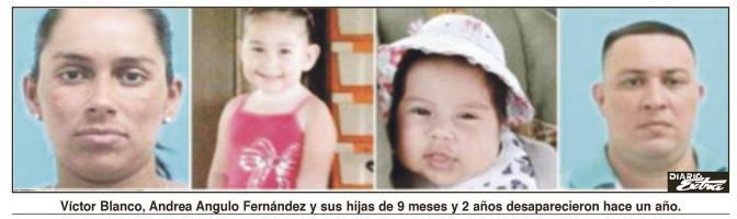 Víctor Blanco, Andrea Angulo Fernández y sus hijas de 9 meses y 2 años desaparecieron hace un año