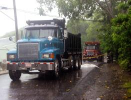 El conductor de la vagoneta no se percató que había atropellado a la nicaragüense