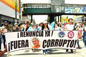 Las manifestaciones contra el mandatario no cesan en diferentes puntos del país