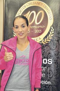 Mónica Vargas está lista para competir en la Carrera del Odontólogo. (Foto: Francisco Herrera)