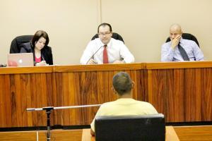 El imputado Calvo Arias dijo que declarará en el momento que su defensor lo requiera