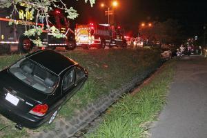 Los vehículos quedaron a 25 metros uno del otro