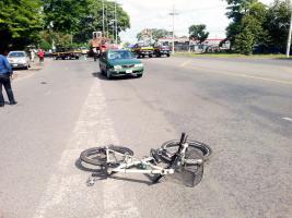 La bicicleta de Rodríguez quedó en el lugar