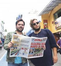"""Mauricio  Madriz y """"Macho"""" Araya. Faltó el guitarrista Dirk Stammes"""