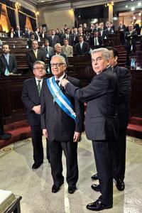 Alejandro Maldonado, de 79 años, hasta hace cuatro meses era magistrado titular de la Corte de Constitucionalidad