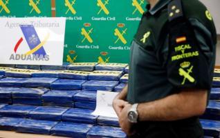La policía española custodió los paquetes de cocaína que salieron de nuestro país