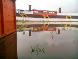El redondel de Zapote sufre las consecuencias de la lluvia