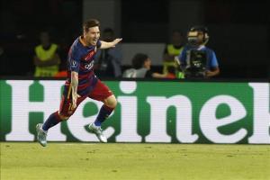 El fiscal exculpa a Messi y pide 18 meses para su padre por fraude fiscal El delantero argentino del FC Barcelona Lionel Messi celebra un gol. EFE/Archivo