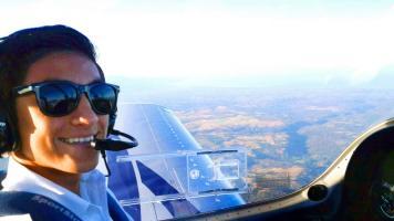 Erick Carballo obtuvo hace pocos meses su licencia como piloto privado