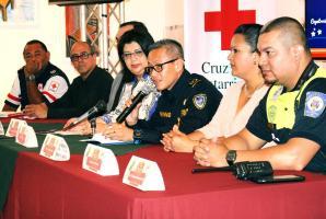 Autoridades de Bomberos, Cruz Roja, PANI, Policía Municipal, entre otros, dieron a conocer el plan operativo