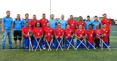 Selección de amputados que nos representó en la Copa América. (Foto: Carlos Barquero)