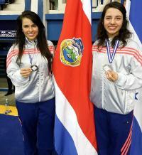 Las ticas Dirley Yepes y Andrea Campos ganaron oro y plata, respectivamente, en el Centroamericano disputado en El Salvador