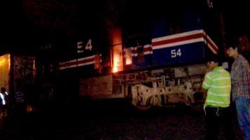Los maquinistas salieron a tiempo del vagón en llamas