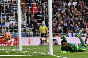 En el segundo gol del Bilbao, Navas no pudo hacer nada.
