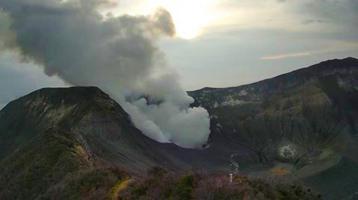 Aumentan sismos en el Turrialba, según el reporte emitido ayer (Foto: RSN)