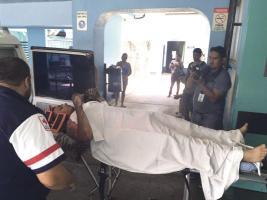 El trabajador fue llevado de urgencia hasta el hospital con quemaduras en sus brazos