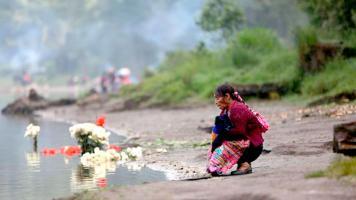 Indígenas guatemaltecos no saben hace cuánto, inició la tradición de realizar un ritual para rogar por lluvia