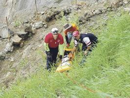 Por lo empinado del terreno el rescate duró 7 horas