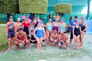 La natación contó con un buen número de atletas en el festival