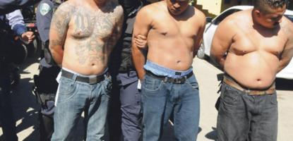 Capturan 14 pandilleros por amenazas y robo