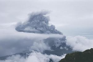 Una de las erupciones registradas reportó alturas de hasta 600 metros. (Foto con fines ilustrativos)