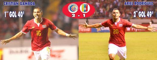Selección Nacional gana 2 a 1 a Venezuela