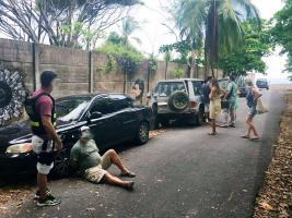 Agentes del OIJ capturaron a un colombiano sospechoso de tachar el carro de unos alemanes