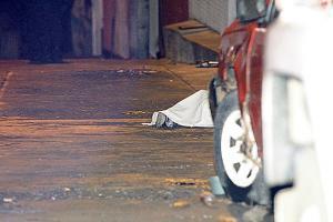 El cuerpo del nicaragüense quedó tendido en la calle