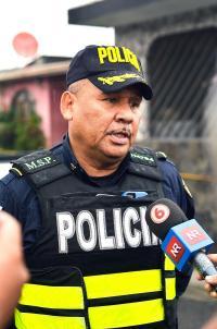 José Domingo Cruz, director regional de la Fuerza Pública